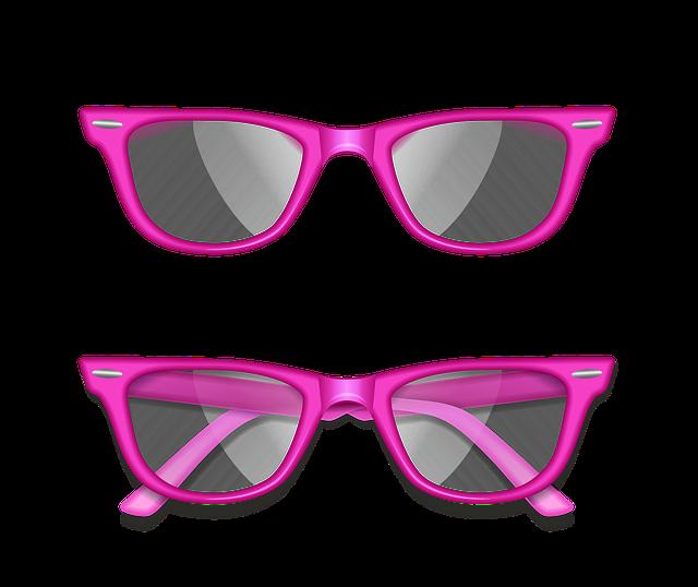 dvoje růžové brýle
